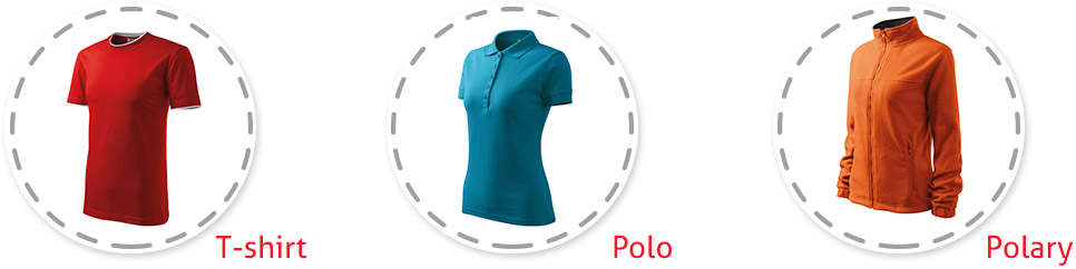 T-shirt, polo, polary